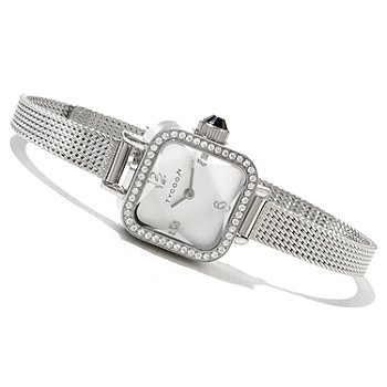 130-603 - TYCOON for Brilliante® Women's 1.00 DEW Quartz Stainless Steel Bracelet Watch