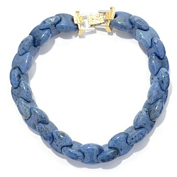 130-651 - Men's en Vogue II Interlocking Dumortierite Fold-over Clasp Link Bracelet