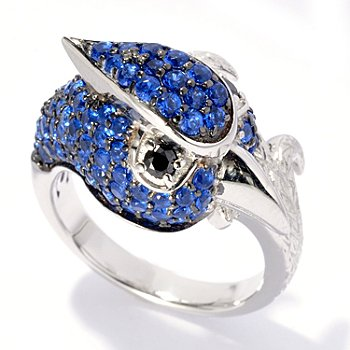 130-657 - Neda Behnam for Brilliante® Platinum Embraced™ 1.80 DEW Blue Jay Ring