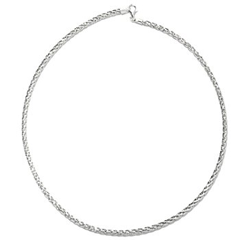 130-664 - Palatino™ Platinum Embraced™ Textured & Polished Twisted Omega Necklace