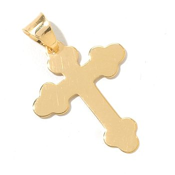 130-671 - Italian Designs with Stefano 14K Gold Fancy Cross Pendant