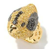 NEDA SS/PLAT YELLOW AND BLACK DUCK RING