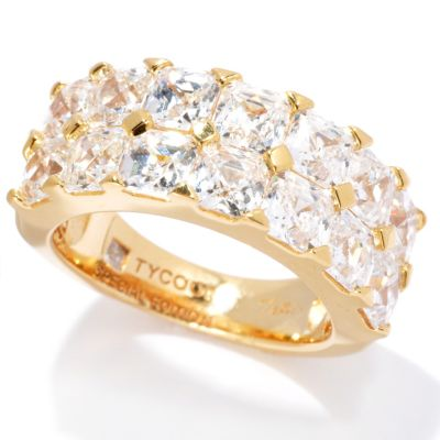 130-702 - TYCOON for Brilliante® 5.48 DEW Special Edition Royal Tycoon Cut Two-Row Band Ring