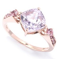 14K RG CUSHION CUT KUNZITE RING