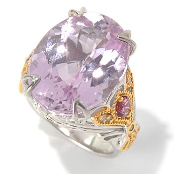 130-828 - The Vault from Gems en Vogue II 22.32ctw Kunzite & Multi Gemstone Polished Ring