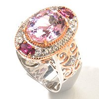 SS/PALL RING 12x10MM KUNZITE