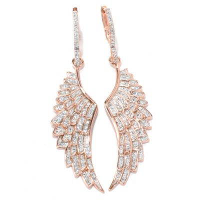 "130-869 - Sonia Bitton for Brilliante® 2.5"" 1.93 DEW Wing Drop Earrings"