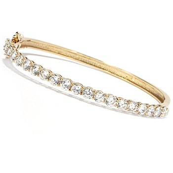 130-878 - Brilliante® Round Cut Oval Hinged Bangle Bracelet