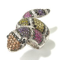NEDA SS/PLAT MULTI-COLOR SNAKE RING