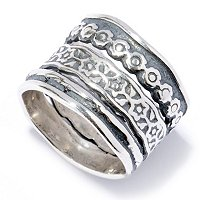 SS MULTI-TEXTURED STACK RING