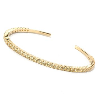 130-920 - Dare to Rare™ 5.61 DEW Round Cut Simulated Diamond Cuff Bracelet