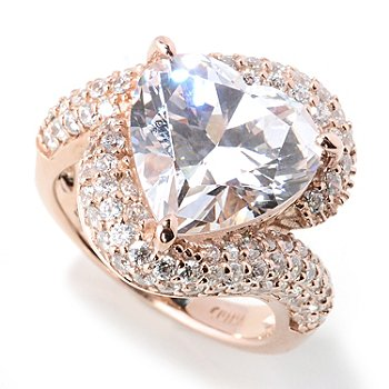 130-928 - Dare to Rare for Brilliante® Rose Gold Embraced™ 6.97 DEW Heart Ring