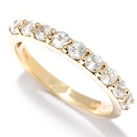 SS/P RING WHITE ZIRCON BAND