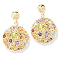 Multi Gem Stone Earrings