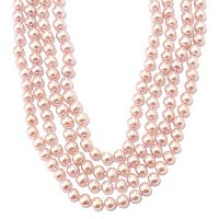 "100"" 7-8mm NATURAL PINK FWP ENDLESS NECKLACE"