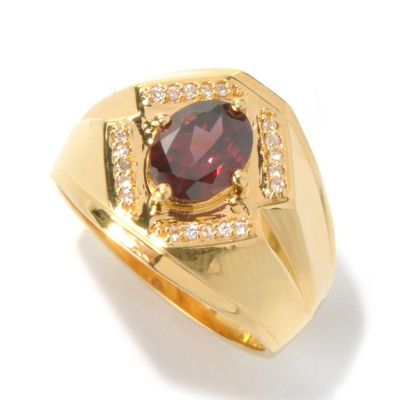 131-173 - NYC II Men's 2.27ctw Raspberry & White Zircon Polished Ring