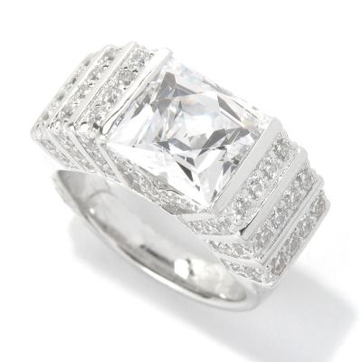 131-179 - TYCOON for Brilliante® Platinum Embraced™ 5.15 DEW Art Deco Style Square Ring