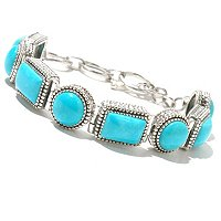 SS STABILIZED TURQUOISE TOGGLE BRACELET