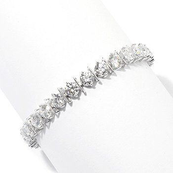 131-222 - Brilliante® Round Cut Bar Station Line Bracelet