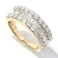 14K CHOICE METAL DIAMOND BAND RING