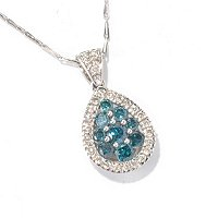 14K WG BLUE & WHITE DIAMOND PENDANT