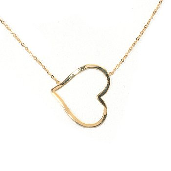 131-359 - Italian Designs with Stefano 14K Gold 18'' Polished Heart Necklace