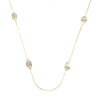 131-362 - Italian Designs with Stefano 14K Gold 24'' Cattedrale Station Necklace