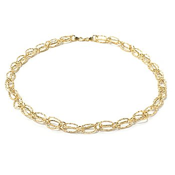 131-365 - Italian Designs with Stefano 14K Gold 18'' Textured Cestina Necklace