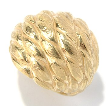 131-369 - Italian Designs with Stefano 14K ''Oro Vita'' Electroform Dome Ring
