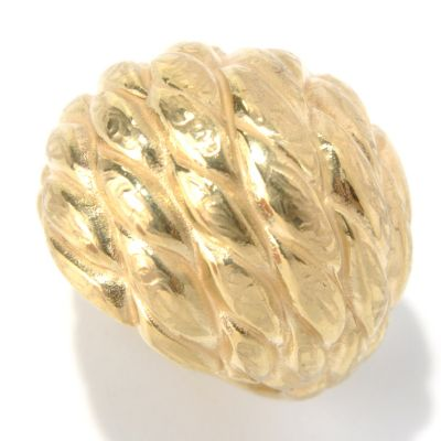 "131-369 - Italian Designs with Stefano 14K ""Oro Vita"" Electroform Dome Ring"