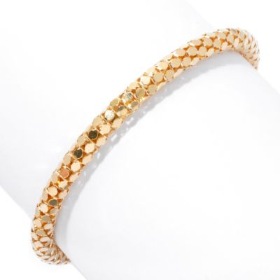 131-635 - Scintilloro™ Gold Embraced™ Diamond Cut Coreana Chain Bracelet