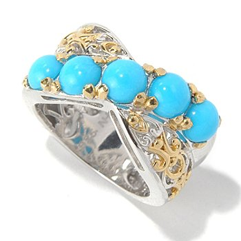 131-701 - Gems en Vogue II Sleeping Beauty Turquoise Crossover Ring