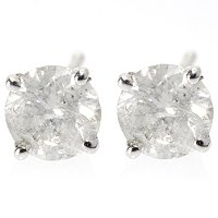 14K WG .4CTW DIAMOND STUD EARRINGS