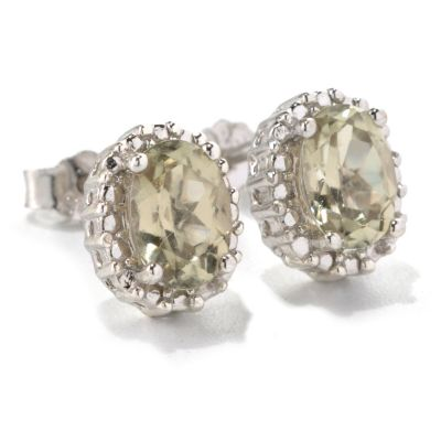 131-824 - Gem Insider Sterling Silver 1.53ctw Zultanite Beaded Halo Stud Earrings