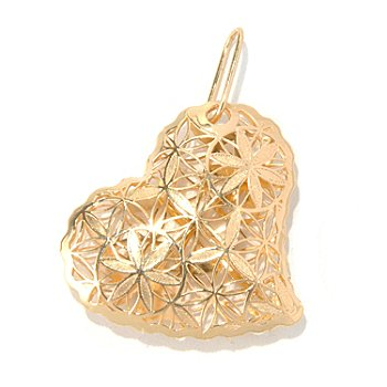 131-875 - Italian Designs with Stefano 14K Gold Ricami Heart Pendant