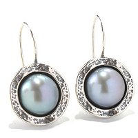 DYED CULTURED PEARL EARRINGS