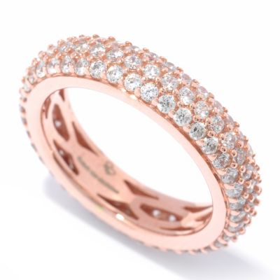 "132-036 - ""As Is"" Sonia Bitton for Brilliante® 1.80 DEW Pave Eternity Band Ring - Size 6"