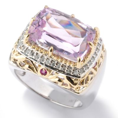 132-116 - The Vault from Gems en Vogue II 7.66ctw Kunzite, Pink Sapphire & Diamond Ring