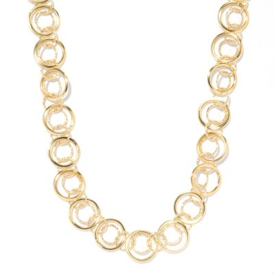 "132-383 - Italian Designs with Stefano 14K Gold 20"" ""Cerchi Felici"" Textured Necklace"