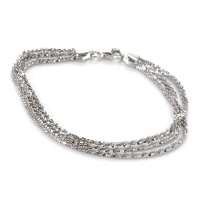 "132-566 - Palatino™ Platinum Embraced™ 7.5"" Three-Strand Margherita Bracelet"