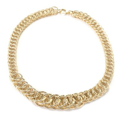 "132-650 - Italian Designs with Stefano 14K Gold 18"" Graduated Reverso Necklace"