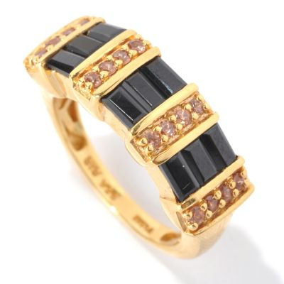 132-901 - NYC II 1.41ctw Zircon & Black Spinel Baguette Ring