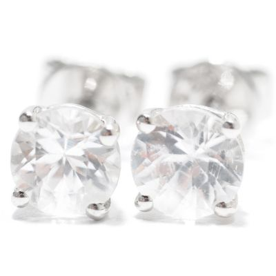 133-016 - Gem Treasures Sterling Silver 5mm Zircon Stud Earrings