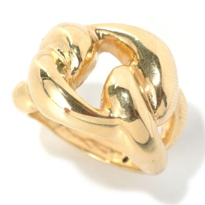 "133-278 - Italian Designs with Stefano 14K ""Oro Vita"" Electroform Love Knot Ring"