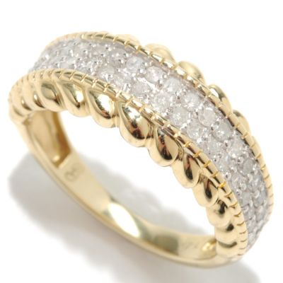 133-311 - 14K Gold 0.45ctw Diamond Two Row Band Ring