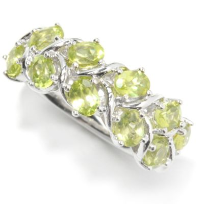 133-341 - Gem Insider Sterling Silver 2.00ctw Peridot Double Row Braided Vine Ring