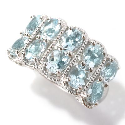 133-530 - NYC II 2.81ctw Oval Ten-Stone Aquamarine Ring