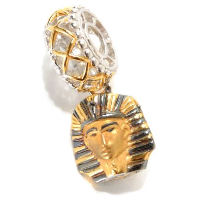 "133-883 - Gems en Vogue II Sculpted Egyptian Pharaoh ""Travel Series"" Drop Charm"
