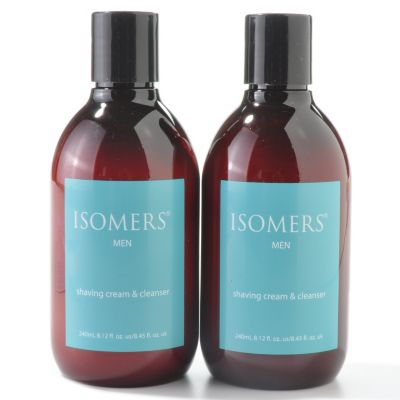 300-055 - ISOMERS Men's Shaving Cream & Cleanser Duo - 8.12 oz each