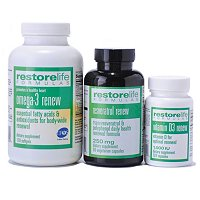 SUZANNE SOMERS RESTORELIFE FORMULAS ESSENTIAL SUPPLEMENTS 3PK